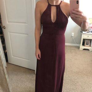 Lulu's xsmall burgundy long dress